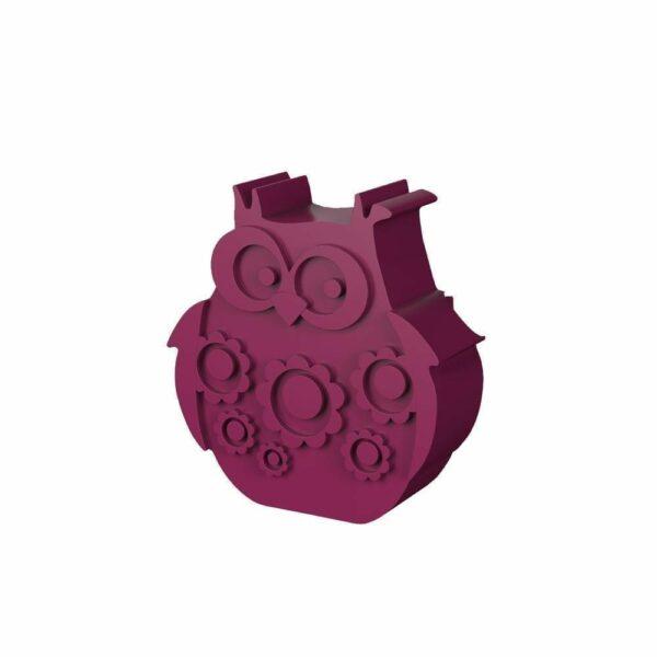 Lunchbox - Owl - Plum Red
