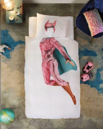 SNURK Duvet Cover Set - Superhero Pink