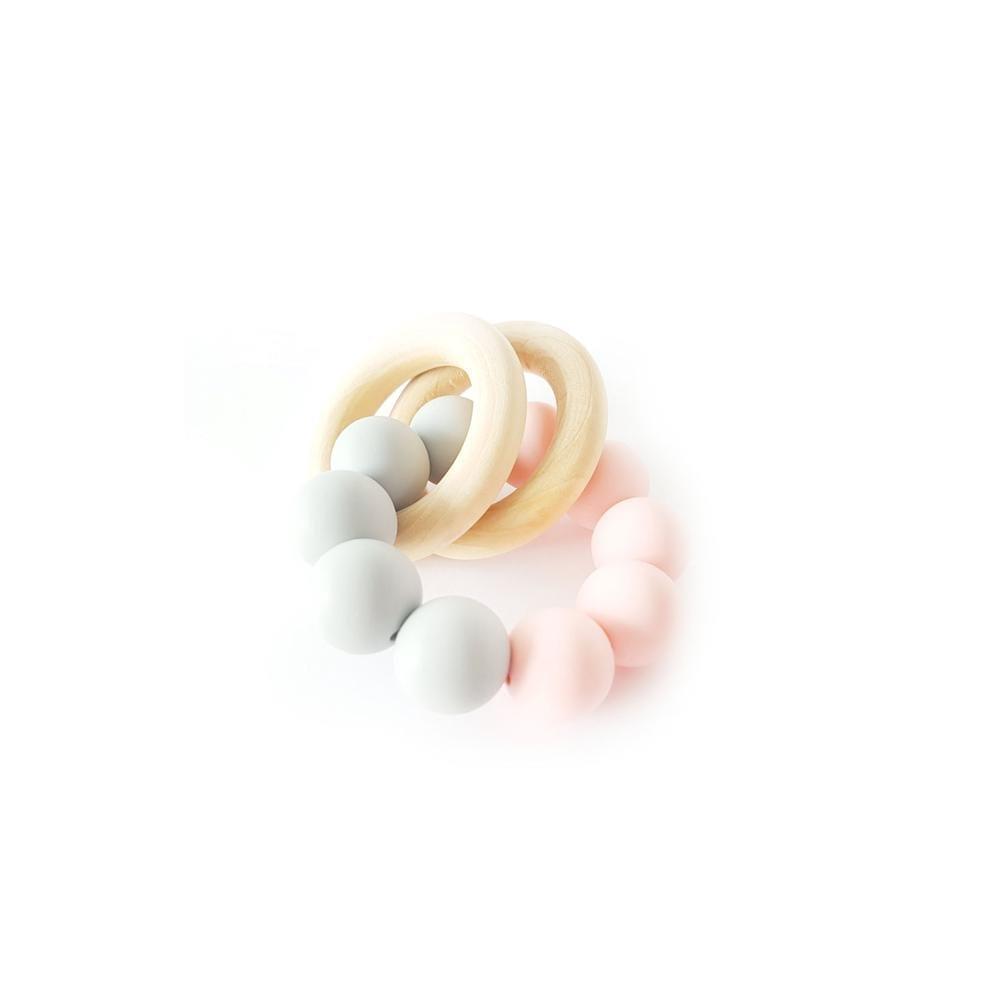 Basic Rattle – Grey/Rose