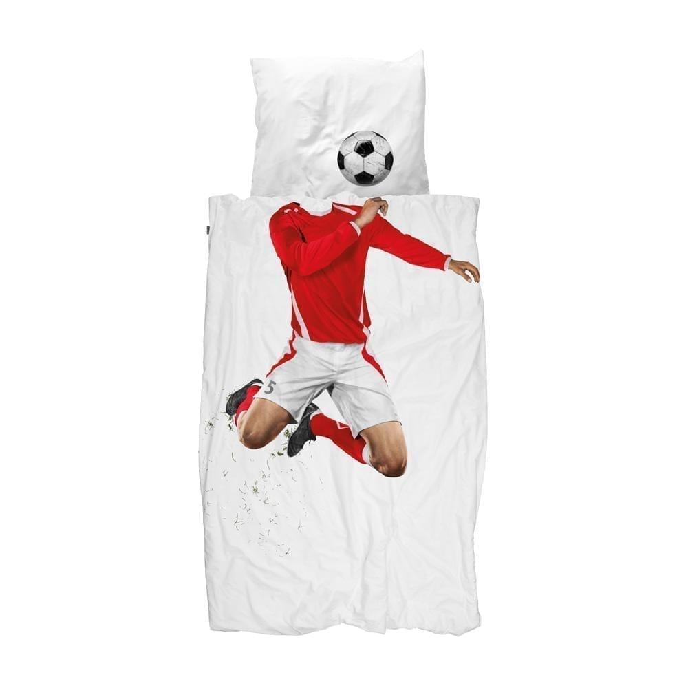 Snurk – Kinderbettwäsche – Fussballer Rot