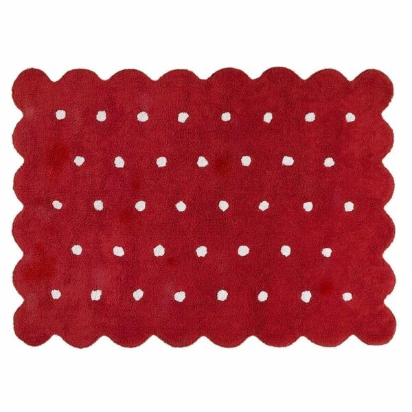 Lorena Canals - Washable Rug - Biscuit - Red
