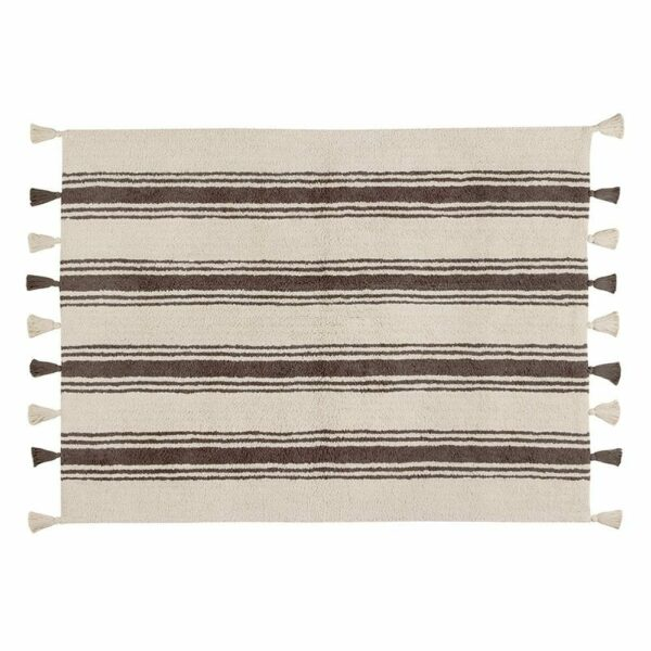Lorena Canals - Washable Rug - Stripes - Elephant Grey