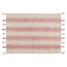Boho Rug – Stripes – Coral Pink – 120 x 160 cm