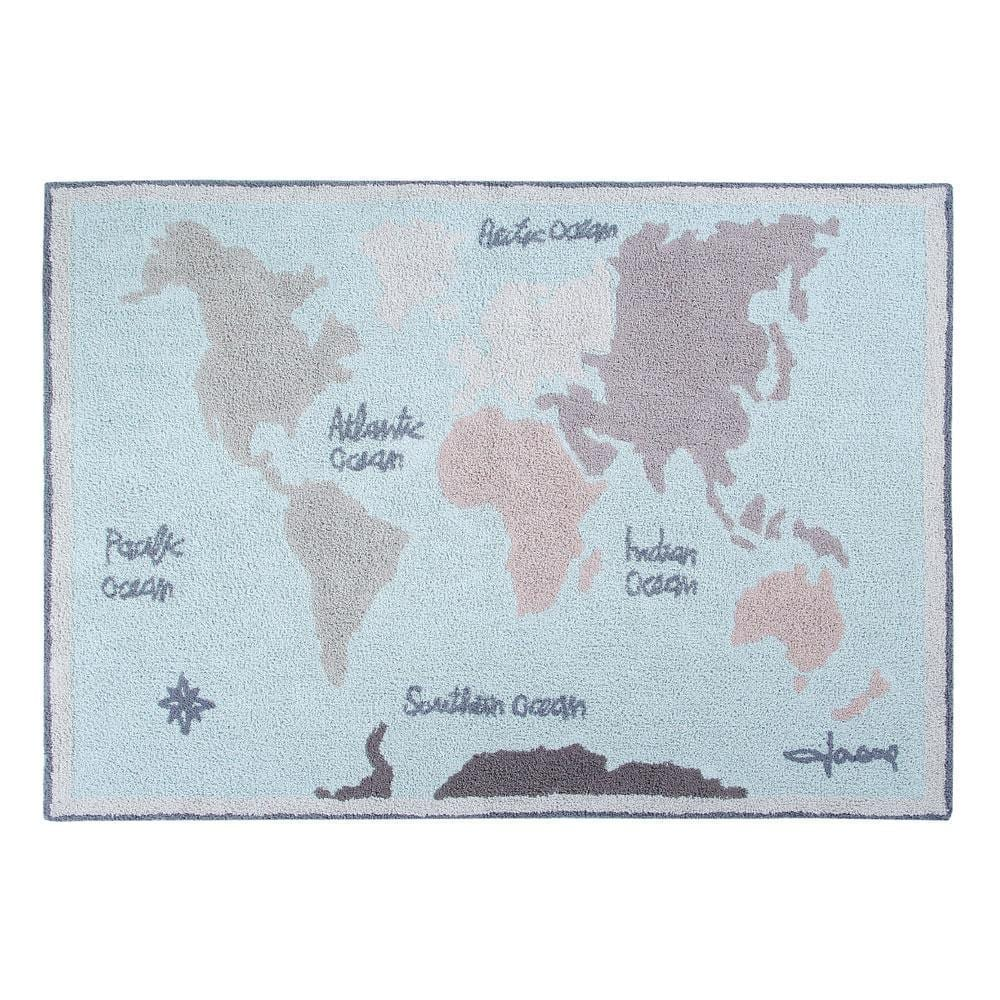 Lorena Canals – Washable Rug – Vintage Map – 140 x 200 cm
