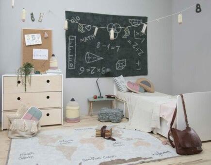 Lorena Canals Waschbarer Teppich - Vintage Weltkarte - 140 x 200 cm