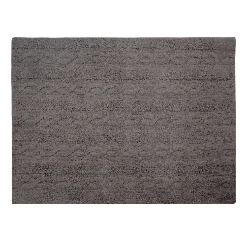 Lorena Canals - Washable Rug - Trenzas - Dark Grey - 2 sizes