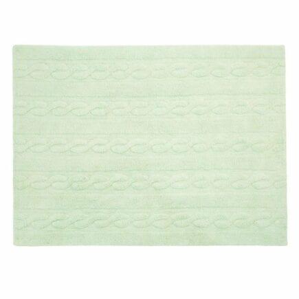 Lorena Canals - Washable Rug - Trenzas - Soft Mint - 2 sizes