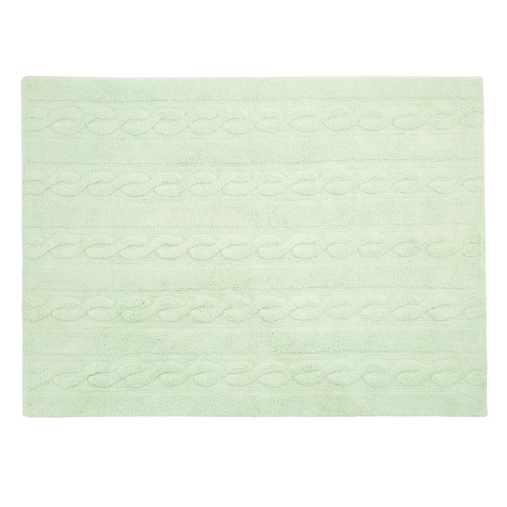 Wasbaar Vloerkleed – Trenzas – Soft Mint – 120 x 160 cm