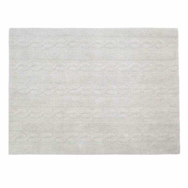 Lorena Canals - Washable Rug - Trenzas - Pearl Grey - 2 sizes