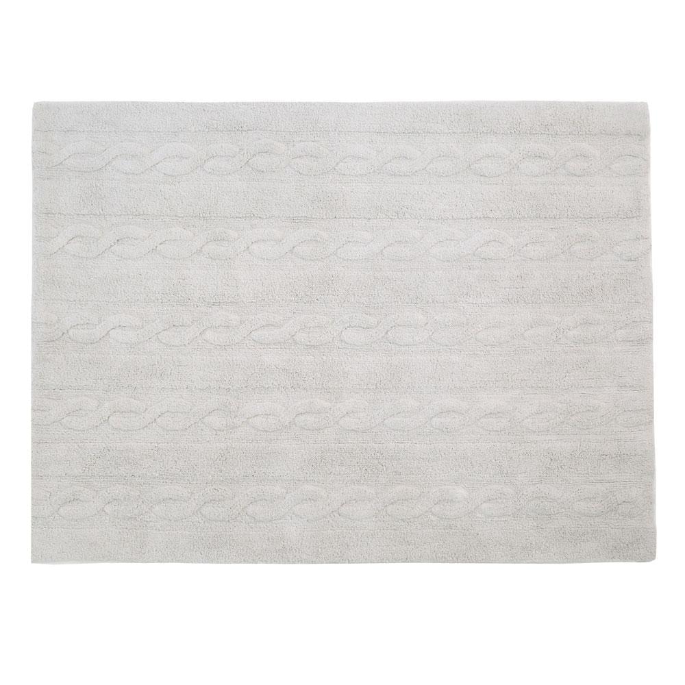 Lorena Canals – Washable Rug – Trenzas – Pearl Grey – 120 x 160 cm