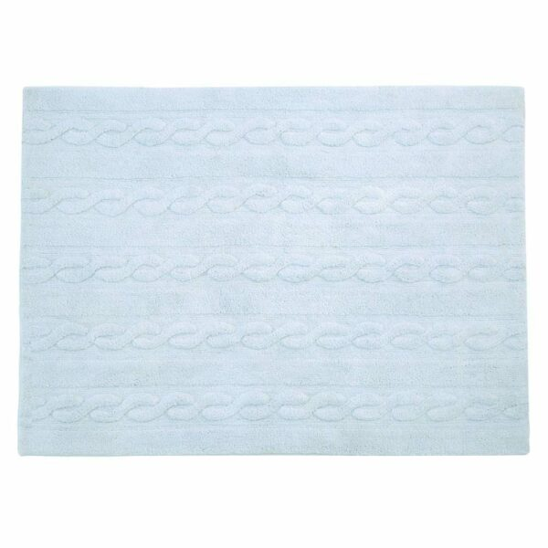 Lorena Canals - Washable Rug - Trenzas - Soft Blue - 2 sizes