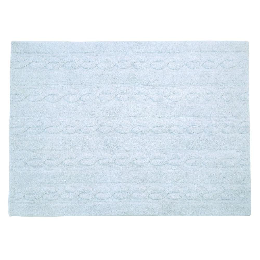 Wasbaar Vloerkleed – Trenzas – Soft Blue – 80 x 120 cm
