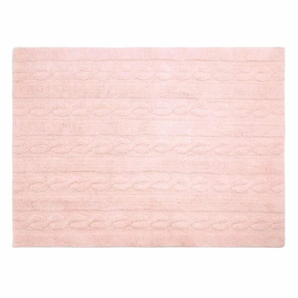 Lorena Canals - Washable Rug - Trenzas - Soft Pink - 2 sizes