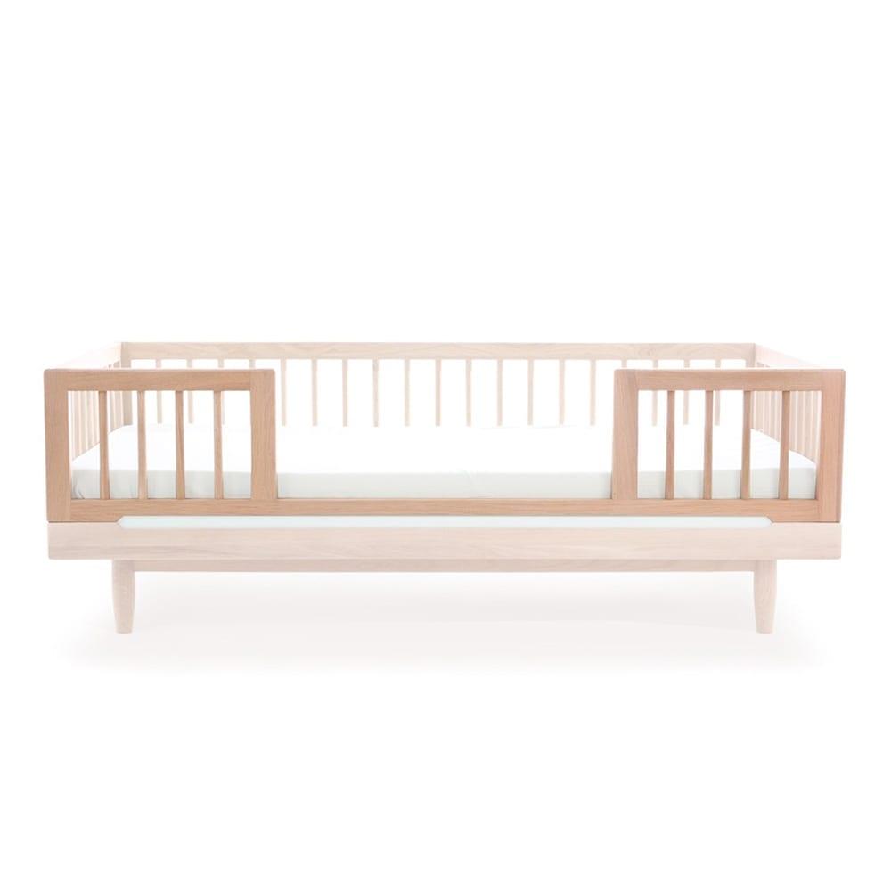 Nobodinoz – Eichenholz Sicherheitsset für Evolutionäres Babybett – Pure – 70 x 140 cm