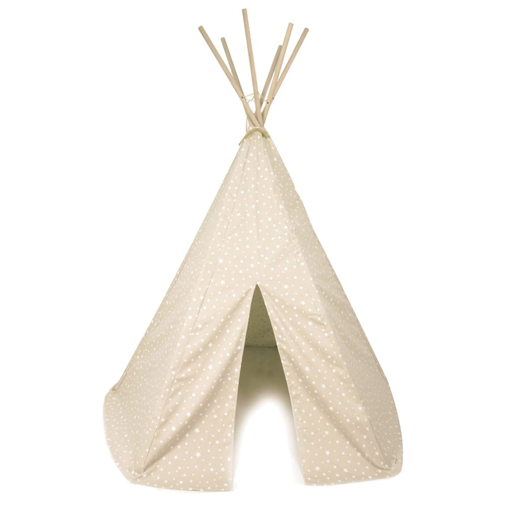 Nobodinoz – Tipi – Arizona – Stars – Sand/Weiß