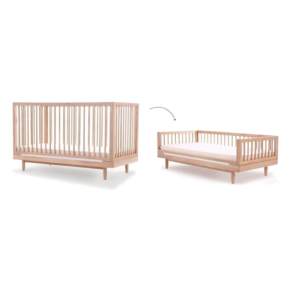 Nobodinoz – Eichenholz Umbauset für Evolutionäres Babybett – Pure – 70 x 140 cm