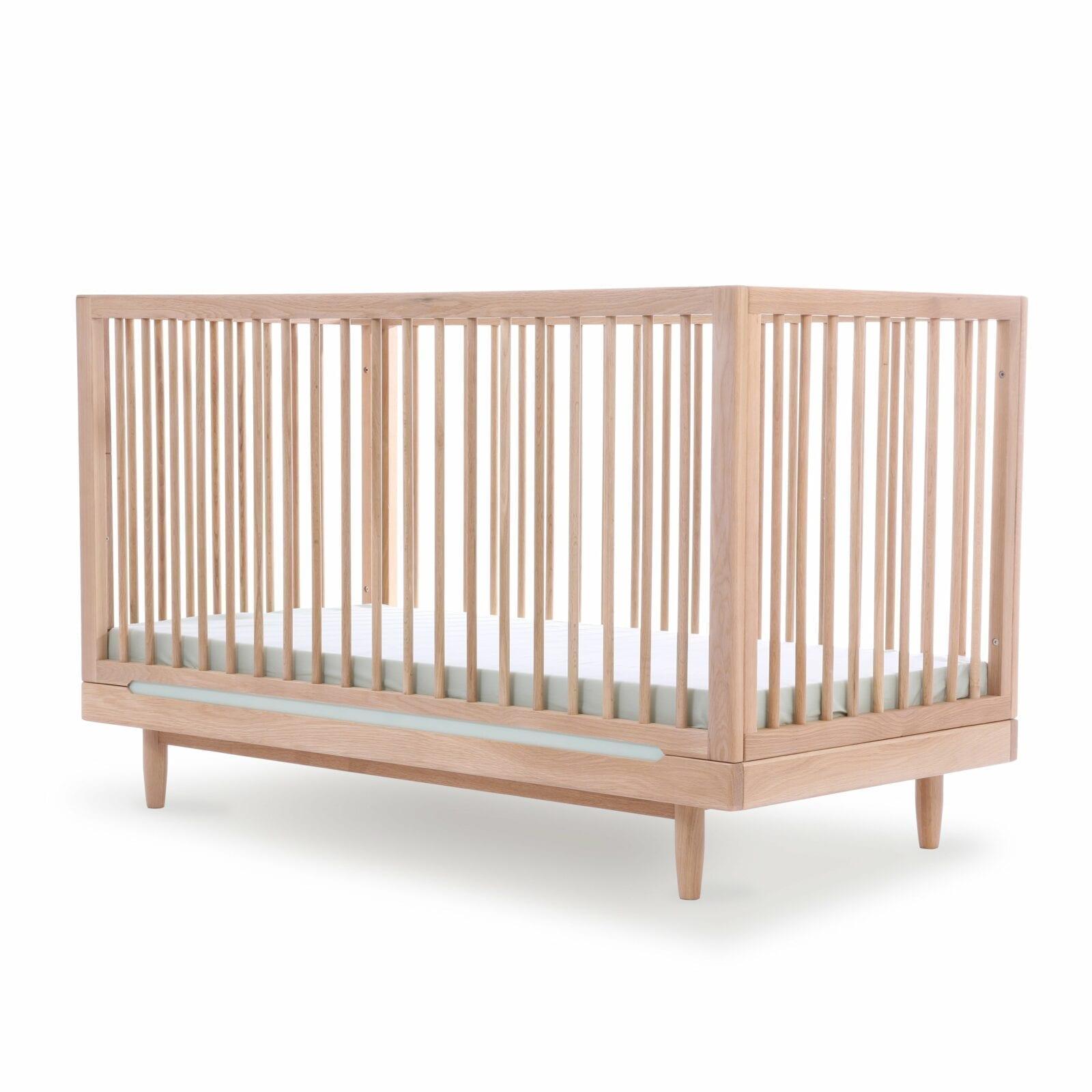 Nobodinoz – Eichenholz Evolutionäres Babybett – Pure – 70 x 140 cm