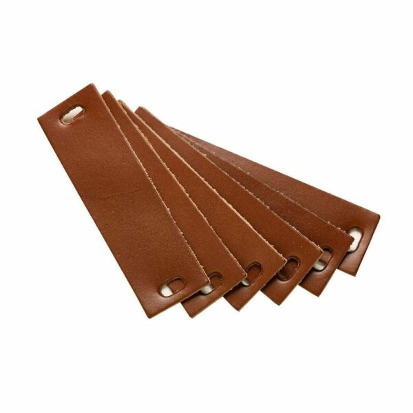 Leander - Leather Handles for Dresser - Brown