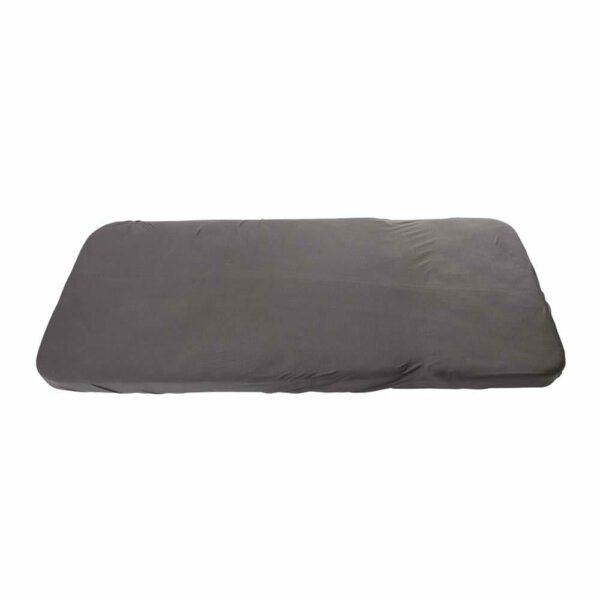 Sebra - Jersey Sheet - Junior - dark grey - 70 x 160 cm