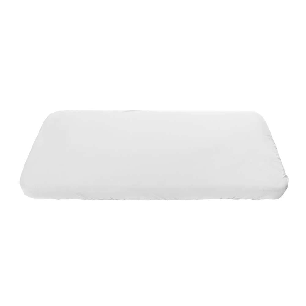Spannbettlaken aus Bio-Baumwolle – Junior – Weiß – 70 x 160 cm