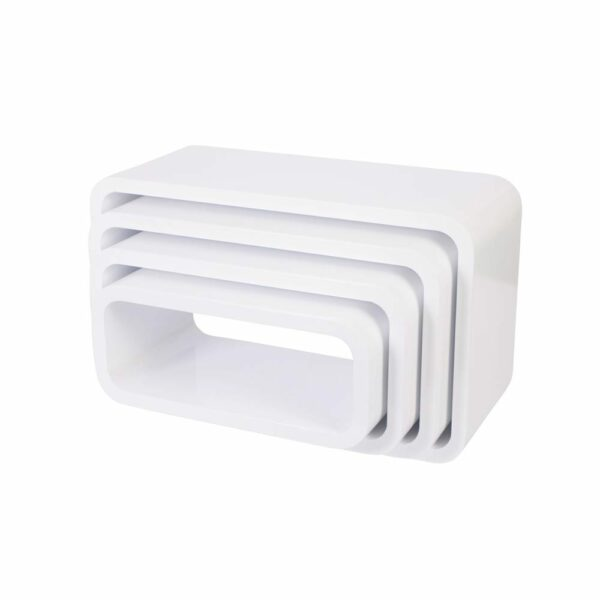 Sebra - Storage Units - Rectangular - Matte White - 4 pcs