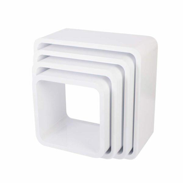Sebra - Storage Units - Square - Matte White - 4 pcs