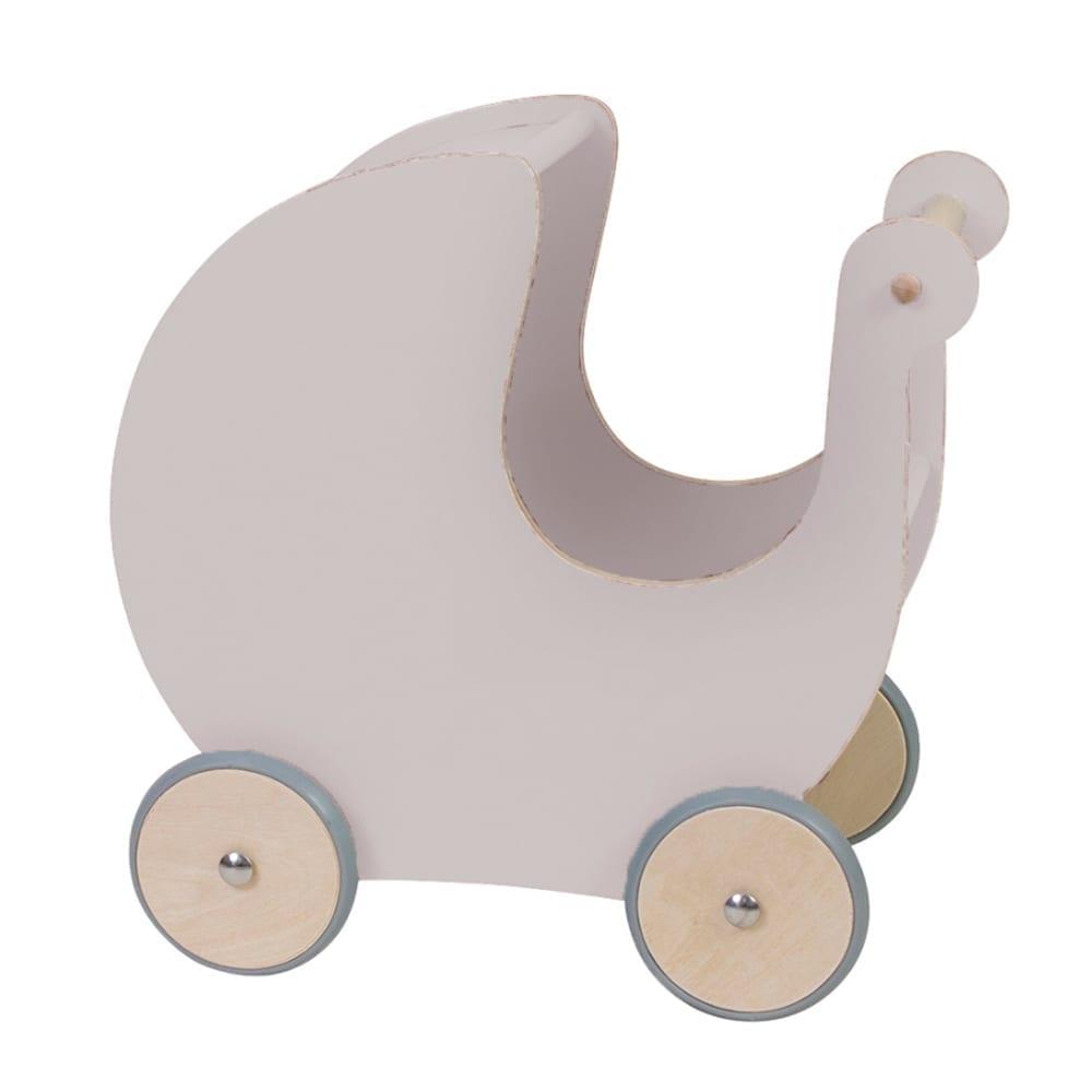 Puppenwagen aus Holz – Dusty Pink
