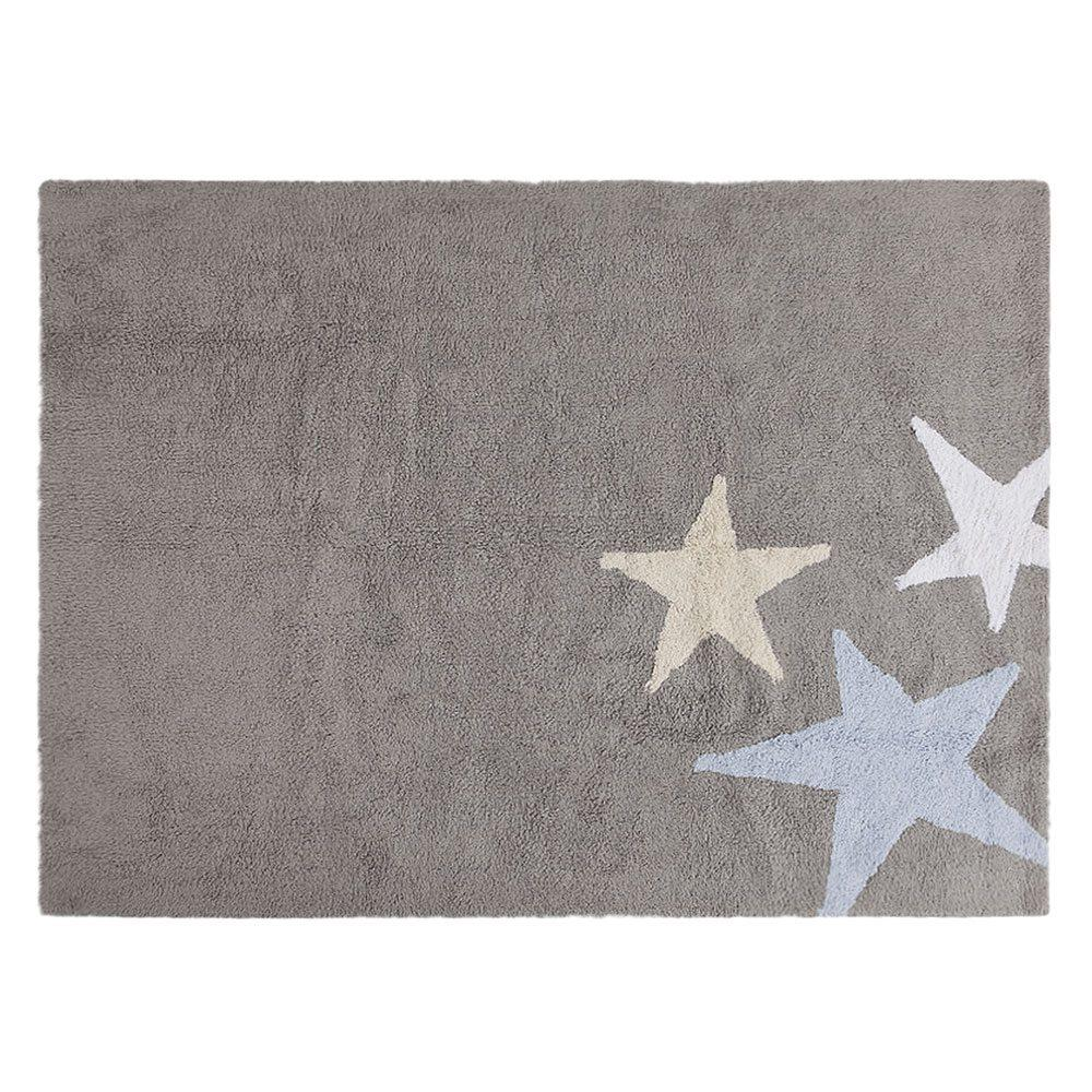 Lorena Canals – Waschbarer Teppich, Tres Estrellas – Grau/Blau – 120 x 160 cm