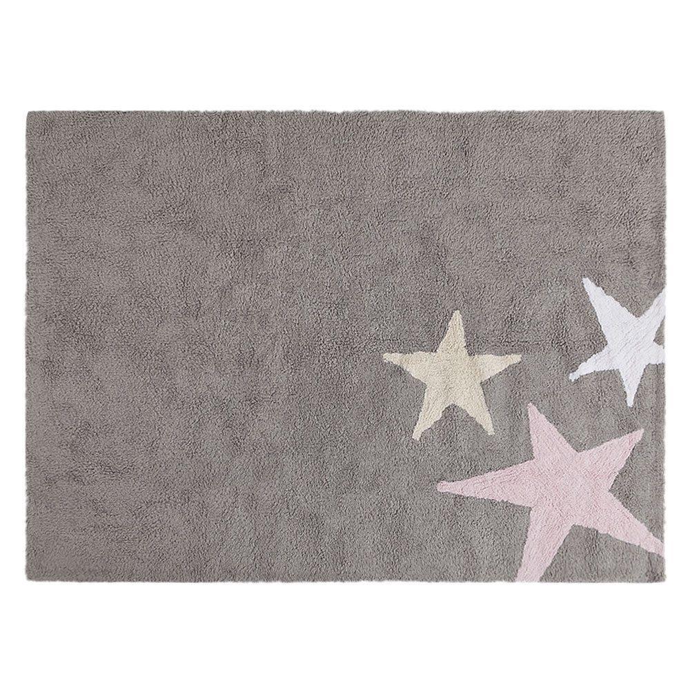 Kindervloerkleed – Tres Estrellas – Grey/Pink – 120 x 160 cm
