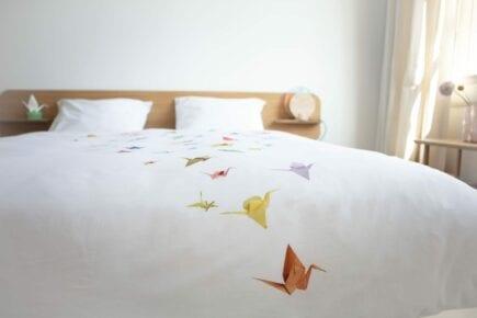 SNURK Kinderbettwäsche - Crane Birds