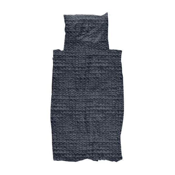 SNURK Duvet Cover Set - Twirre Charcoal Black