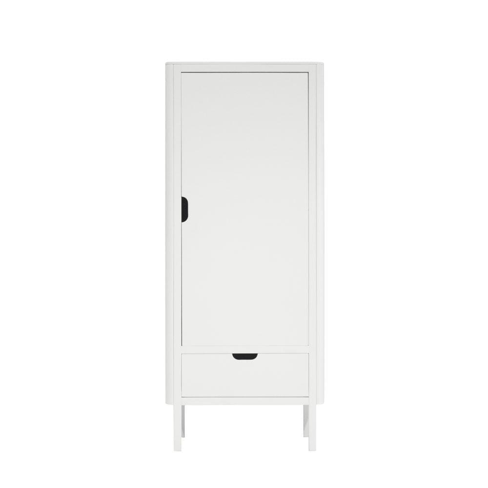 Sebra - Wardrobe - The Sebra Wardrobe - Single Door - White