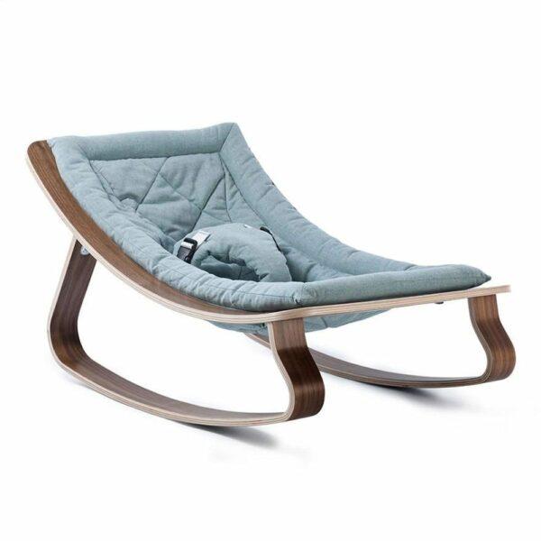 Bouncer LEVO walnut seating aruba blue