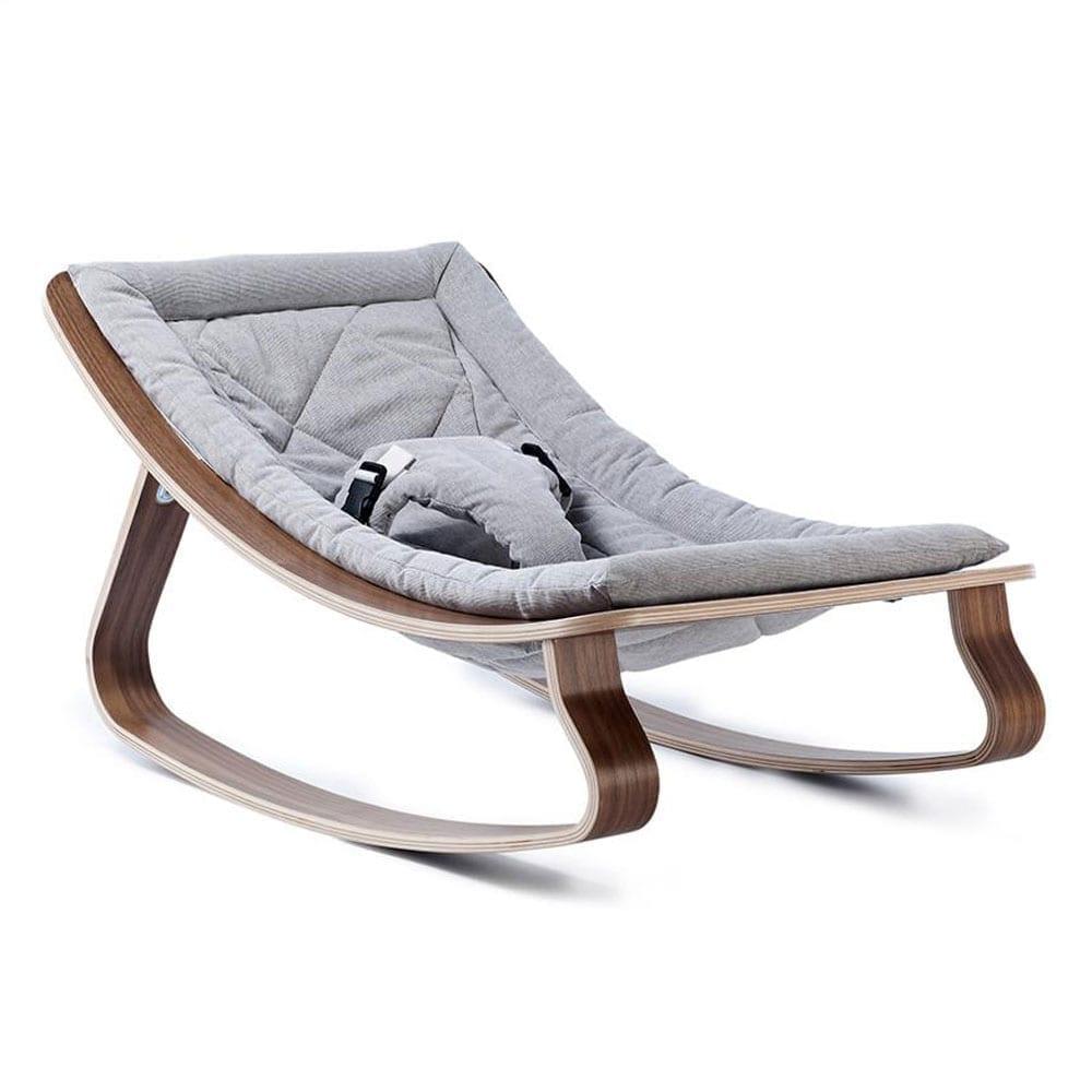 Bouncer LEVO walnut seating gentle grey