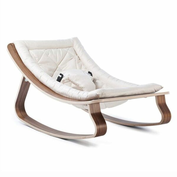 Bouncer LEVO walnut seating gentle white