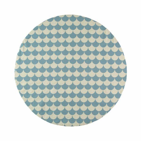 Nobodinoz Play Mat Scales blue