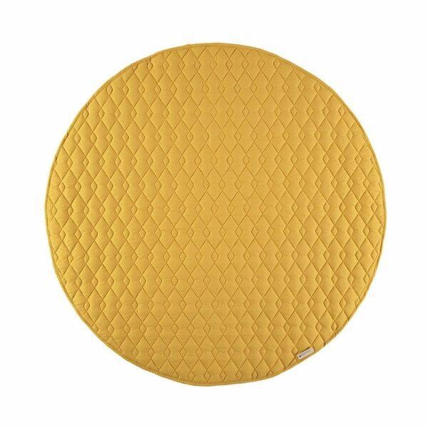 Nobodinoz Round Play Mat Kiowa farniente yellow