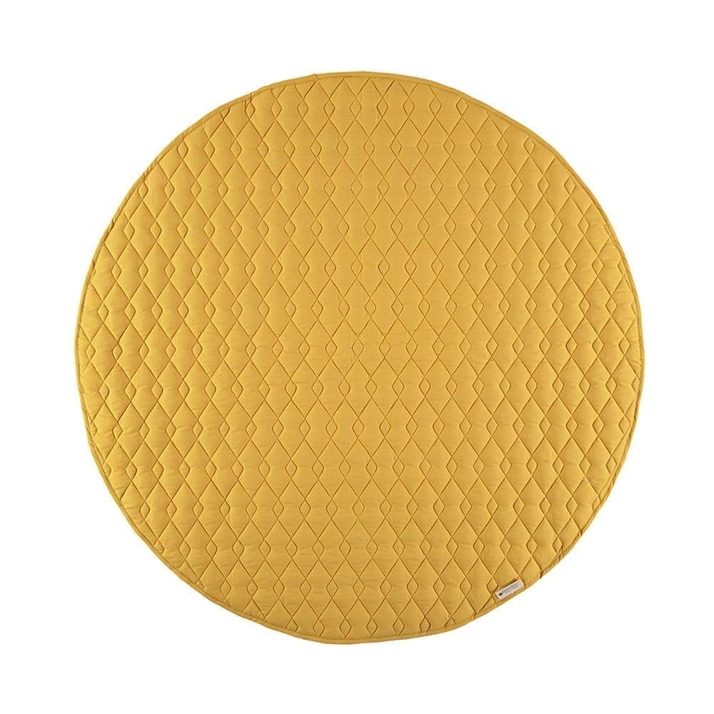 Nobodinoz – Round Play Mat – Kiowa – Farniente Yellow – Ø 105 cm