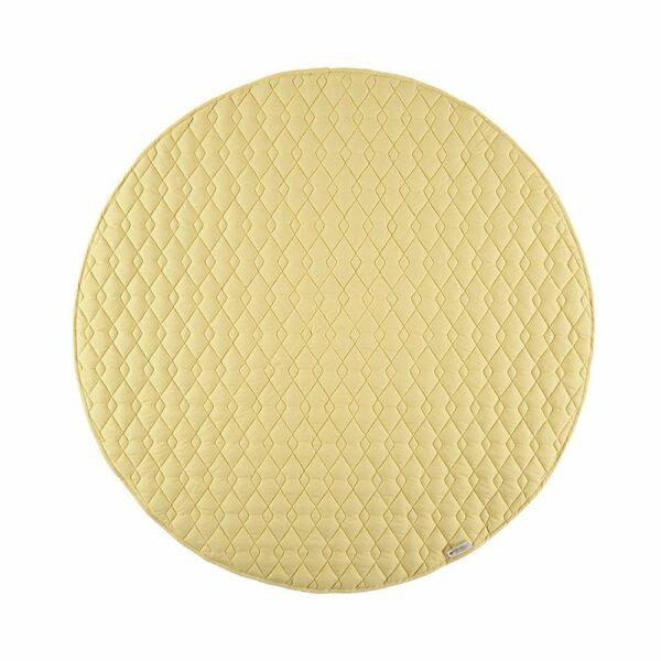 Nobodinoz Round Play Mat Kiowa sunny yellow