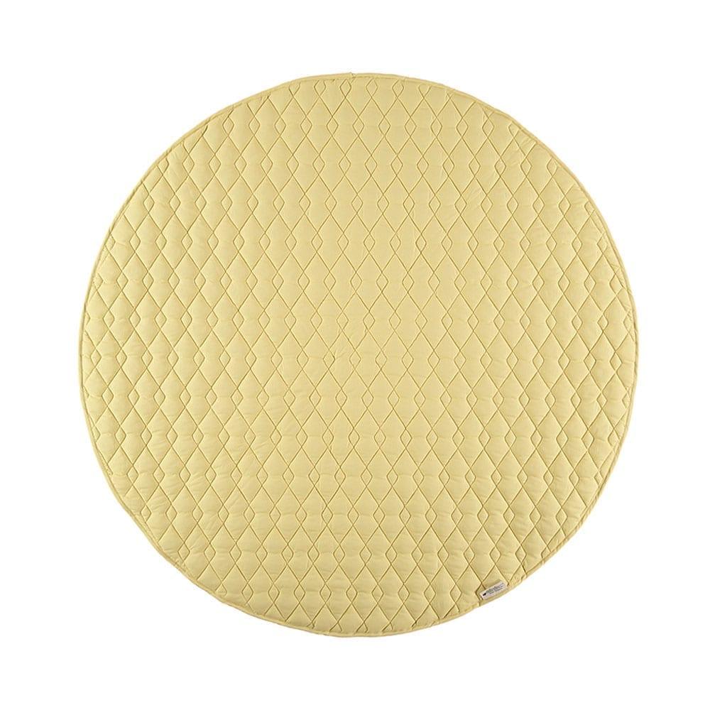 Nobodinoz – Runde Spielmatte – Kiowa – Sunny Yellow – Ø 105 cm