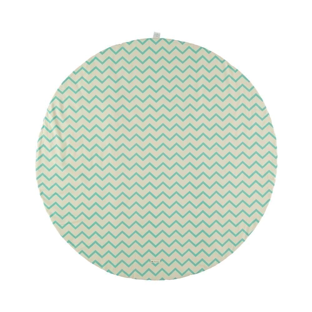 Nobodinoz – Play Mat – Apache – Zig Zag Green – 105 cm Ø