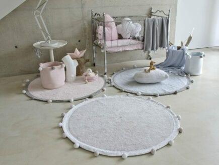 Lorena Canals - Washable Basket - Bubbly - Grey