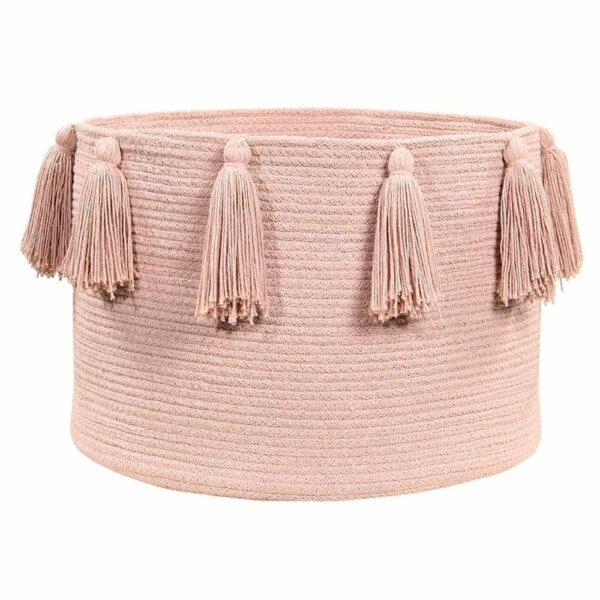 Lorena Canals - Tassels Basket - Vintage Nude - 30 x ø 45 cm