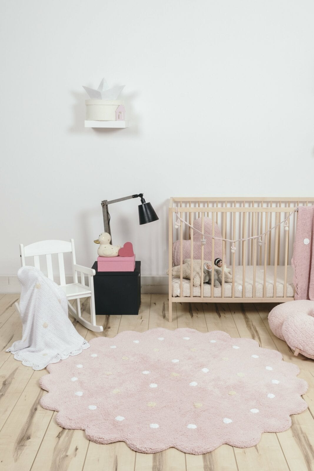 Image of: Lorena Canals Baby Nursery Rug Little Biscuit Pink Free Shipping