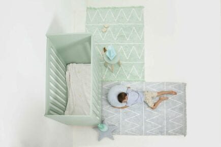 Lorena Canals - Waschbarer Teppich - Hippy - Soft Blau - 120 x 160 cm