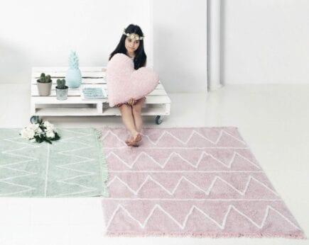 Lorena Canals - Kindervloerkleed - Hippy - Mint - 120 x 160 cm
