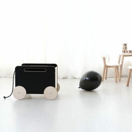 Ooh Noo - Toy Chest on Wheels - Black