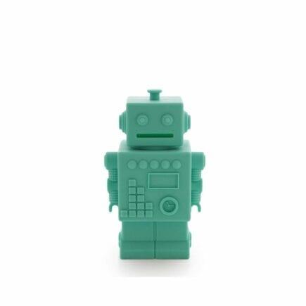 Robot Piggy Bank - Aqua