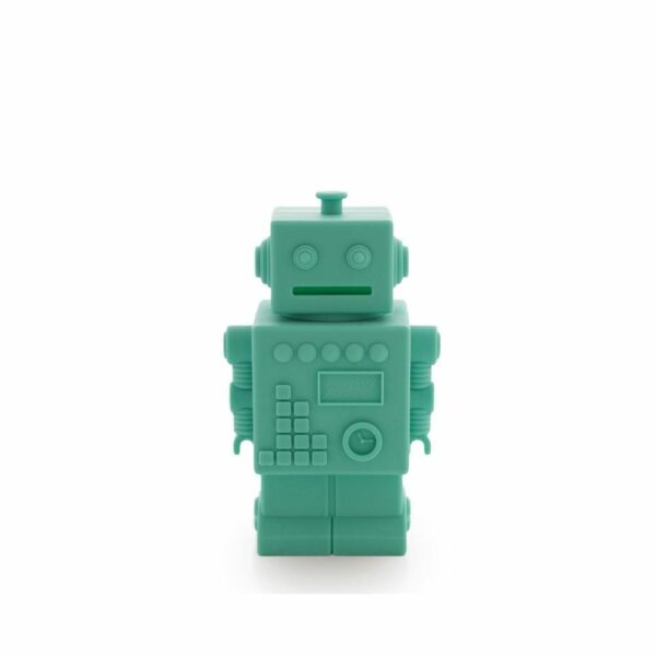 Robot Piggy Bank - Aqua