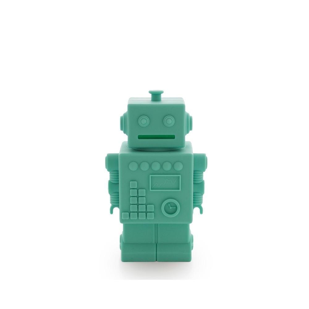 KG Design – Robot Piggy Bank – Aqua